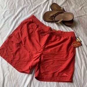 TOMMY BAHAMA SWIMWEAR BATHING TRUNKS LUCKY RED XL